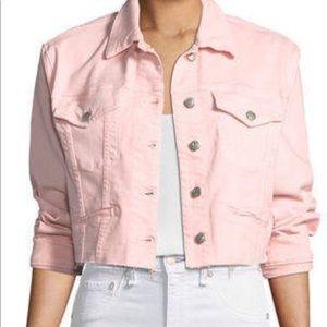 JOE'S JEANS Pink Denim Jacket (Cropped)